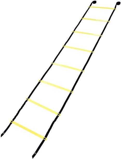 Nimoa Escalera de Entrenamiento, Balón de fútbol de 4 m Flexibilidad de fútbol Entrenamiento de Velocidad Escalera de Salto de Fitness: Amazon.es: Deportes y aire libre