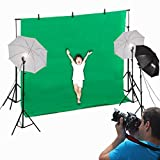 BestMassage Photo Studio Video Photography Lighting Kit Portrait Day Light Backdrop Support Stand and Background