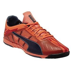 Puma Neon Lite 2.0 Indoor Soccer Shoe (Lava Blast, Total Eclipse, Tapestry) (9.5)