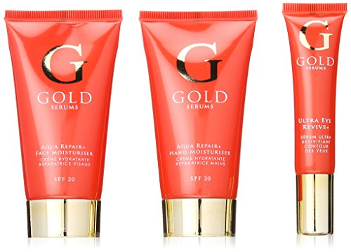 Gold Serums Bag Set Aqua Repair Plus Face Moisturiser, Hand