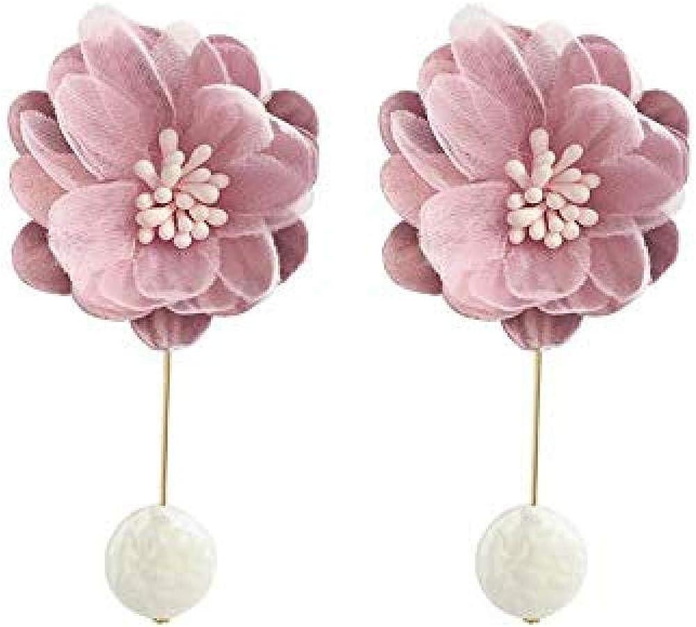 Pendientes Perla Flores De Tejido Artesanal Aretes Aretes Aretes Retro Temperamento Super Aretes De Hada