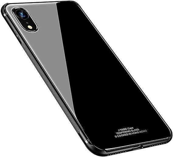 MoreChioce compatible avec Coque iphone XR Coque Miroir Luxe Rouge Bling Glitter Strass /Étui Fille Hybrid Silicone Etui Anti Choc Housse Protecteur Bumper Case Defender