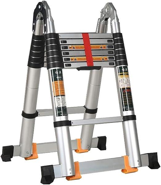 Escalera 220 + 220cm Espiga multifunción Recta retráctil Plegable de aleación de Aluminio Pabellón Liuyu.: Amazon.es: Hogar