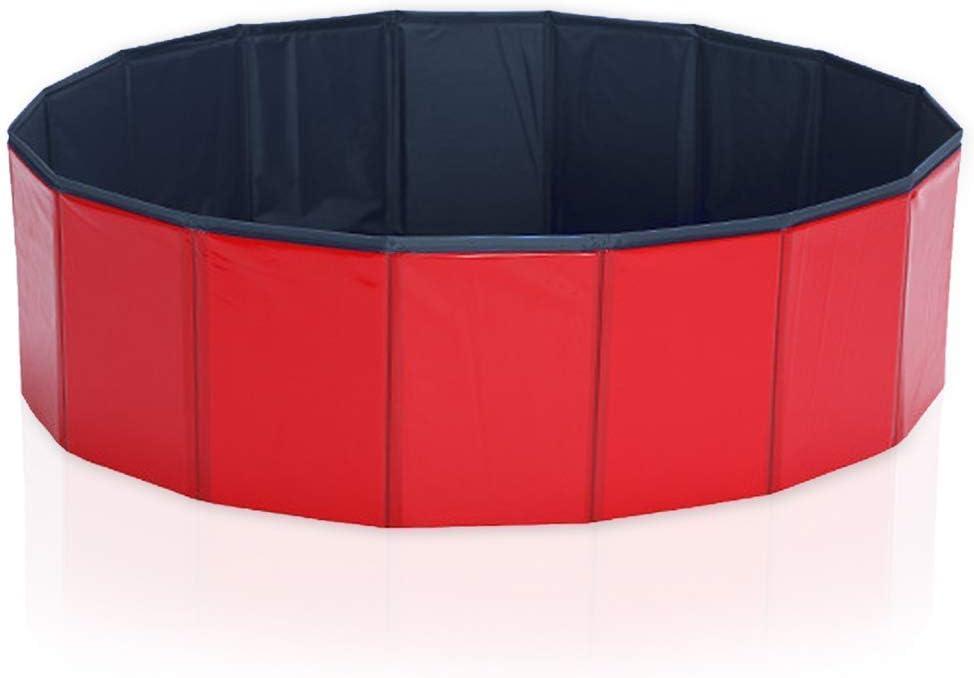 Coolty Piscina para niños, bañera Plegable para Mascotas, Piscina para Perros y Gatos (80 × 20 cm)