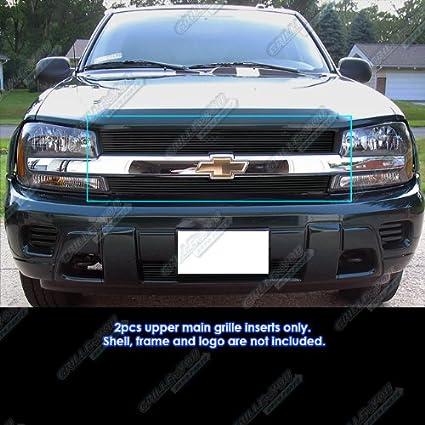 Aps Fits 02 05 Chevy Trailblazer Lt Ls Ss Black Main Upper Billet Grille C85307h