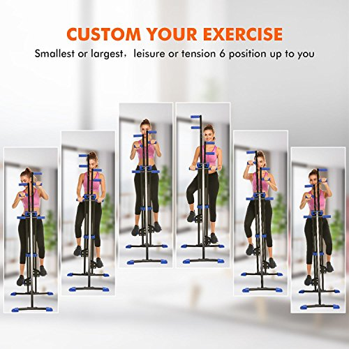 Vertical Mountain Climber Exercise Machine, 2 In 1 Foldable Vertical Stair Step Climber Stepper Exercise Fitness Climbing Machine by Evokem (Image #6)