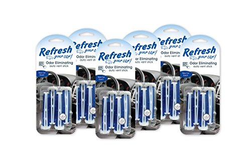 (Refresh Your Car! (86588) New Car Vent Stick Air Freshener, (Pack of 6))