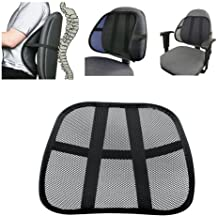 BooTool(TM) Cool Vent Cushion Mesh Back Lumbar Support New Car Office Chair Truck Seat Black