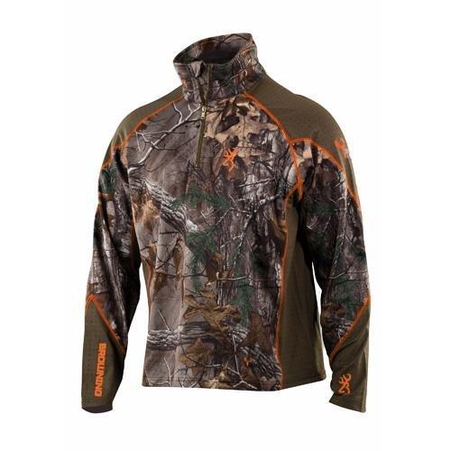 Browning Hell's Canyon Base Layer 1/4 Zip Shirt, Realtree Xtra, Large