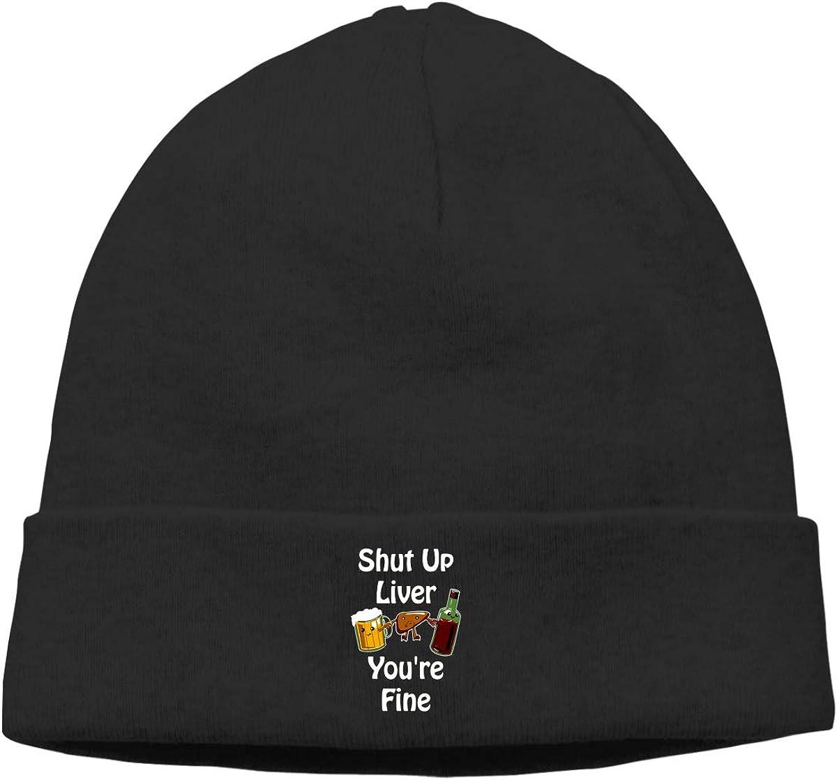 Nskngr Shut Up Liver Youre Fine Unisex Cuffed Warm /& Stylish Knit Cuff Beanie