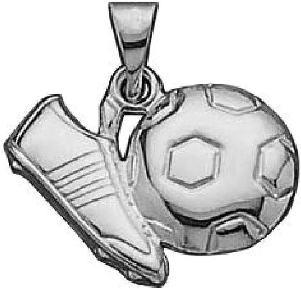 So Chic Joyas - Colgante Futbol Balón Botines Plata 925: Amazon.es ...