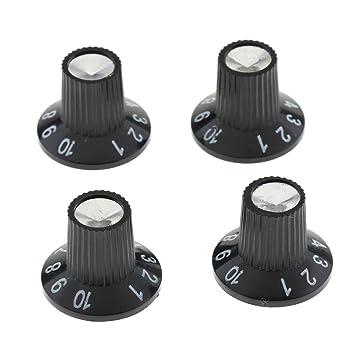 4 Pcs Botones Amplificadores de Guitarra Perillas Efecto ...