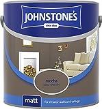 Johnstone's 304026 2.5 Litre Matt Emulsion Paint - Mocha
