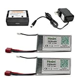 Best Lipo Pack With Battery Chargers - Hosim 2pcs 7.4V 1500mAh 15C T Connector Li-polymer Review