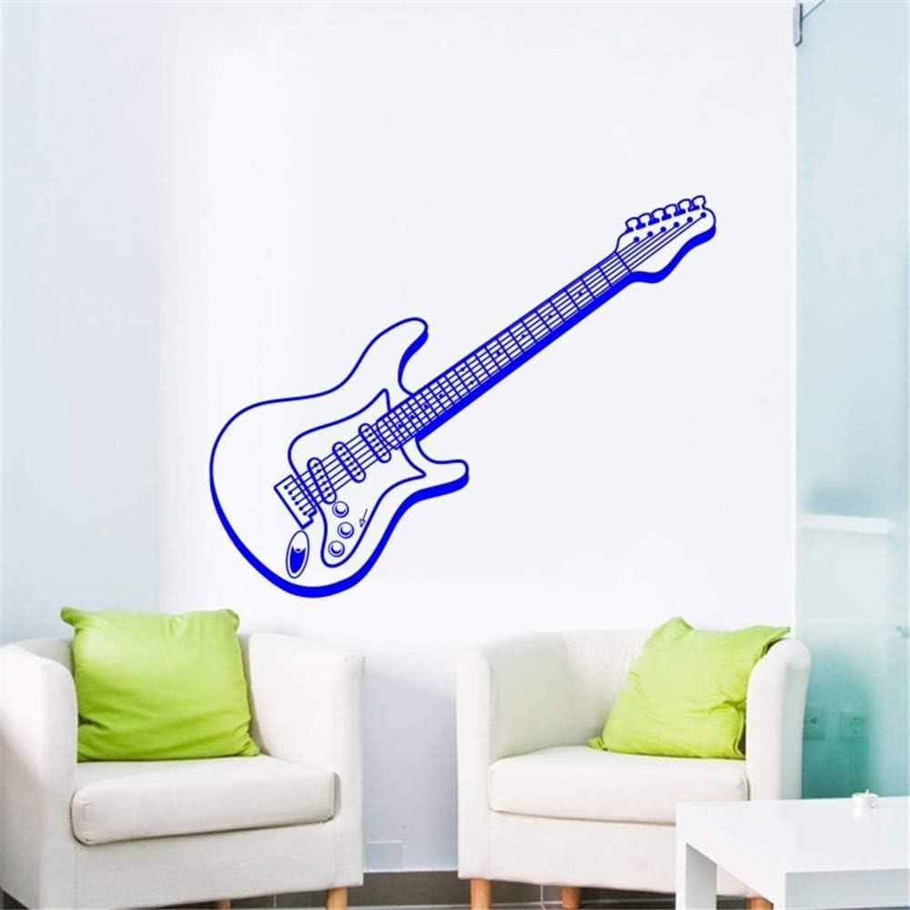 Ajcwhml Música Arte Diseño Etiqueta de La Pared de la Guitarra Eléctrica Agradable Tatuajes de Pared Mural Casa Dormitorio Arte Especialmente Decorativos Tatuajes de Pared 24X57 CM: Amazon.es: Hogar