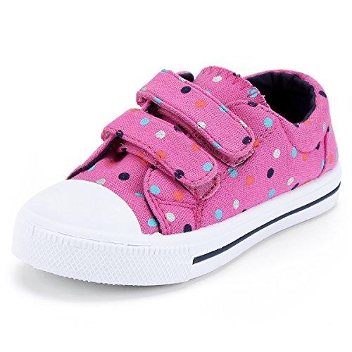 KomForme Toddler Sneakers for Boys and Girls Pink, 9 M US Toddler