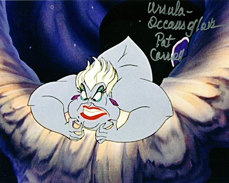 THE LITTLE MERMAID (Pat Carroll) 8x10 Animation Photo Signed In-Person (Signed Mermaid)