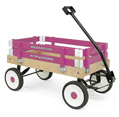Panel Wagon - Berlin F257 Amish-Made Pee-Wee Flyer Ride-On Wagon, Hot Pink