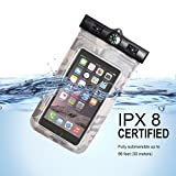 VIEWPRO Universal Waterproof Case IPX8 Waterproof Phone Pouch Underwater Dry Bag for iPhone X/8/8plus/7/7plus/6s/6/6s Plus Samsung Galaxy s9/s8 Google Pixel HTC up to 6.0''(Navy)