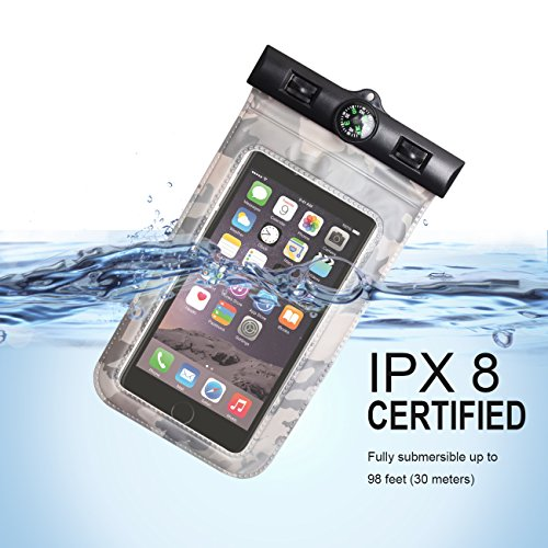 VIEWPRO Universal Waterproof Case IPX8 Waterproof Phone Pouch Underwater Dry Bag for iPhone X/8/8plus/7/7plus/6s/6/6s Plus Samsung Galaxy s9/s8 Google Pixel HTC up to 6.0''(Navy) by VIEWPRO