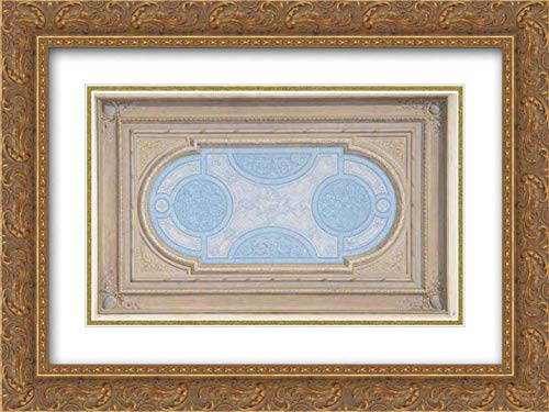Jules-Edmond-Charles Lachaise - 24x18 Gold Ornate Frame and Double Matted Museum Art Print - Design for a Ceiling Painted in filagree Designs
