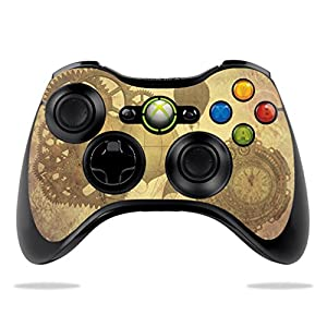 MightySkins Skin Compatible with Microsoft Xbox 360 Controller – Steam Punk Paper | Protective, Durable, and Unique…