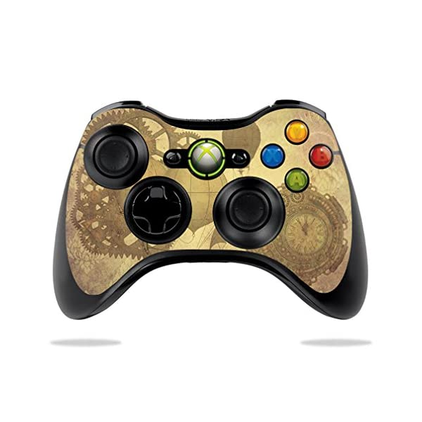 MightySkins Skin Compatible with Microsoft Xbox 360 Controller - Steam Punk Paper | Protective, Durable, and Unique Vinyl Decal wrap Cover | Easy to Apply, Remove, and Change Styles | Made in The USA 3