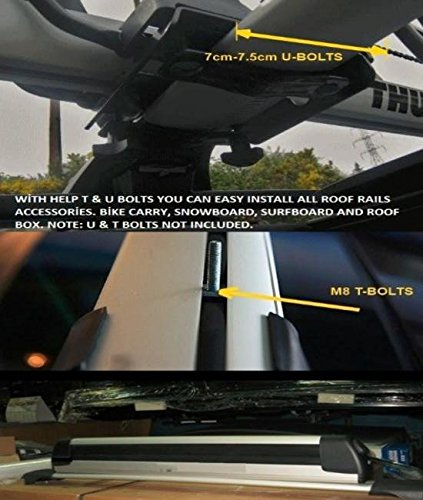 WingBar Ford Kuga//Escape 5dr SUV Aero Cross Bars Roof Rack Aluminium Spoiler