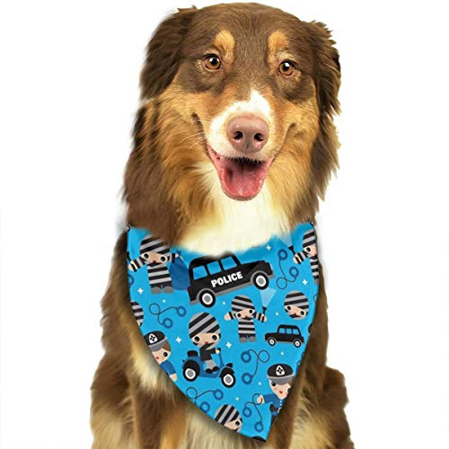 OURFASHION Police Car Thiefs Cobs Robbers Police Bandana Triangle Bibs Scarfs Accessories for Pet Cats and Puppies