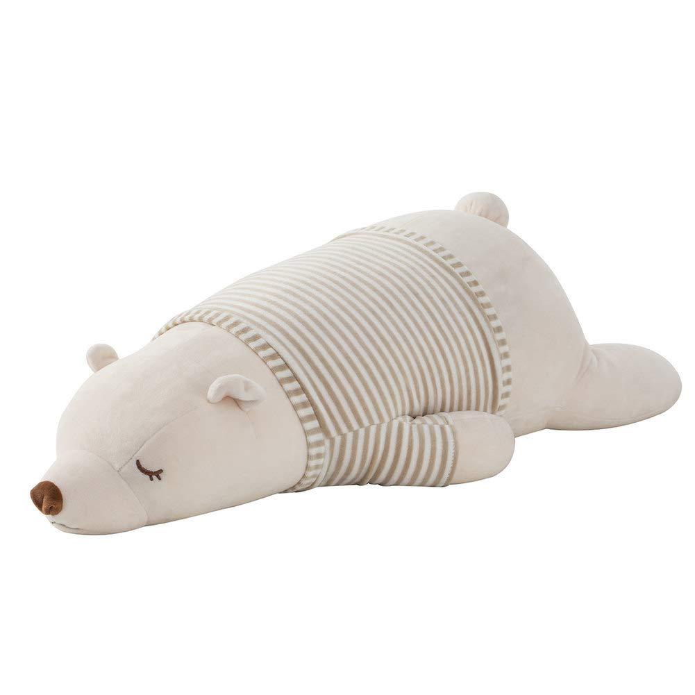 L&J Cute Ausgestopfte Tiere Eisbär-Puppe Antibakteriell Weich Plüschtiere Großes Kissen-Weiß 100cm(39inch)