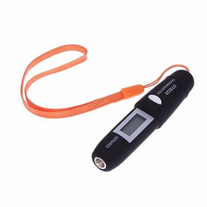 R TOOGOO Termometro infrarrojo electronico DT8220 Termometro infrarrojo electronico LCD sin contacto tipo pluma teledeteccion