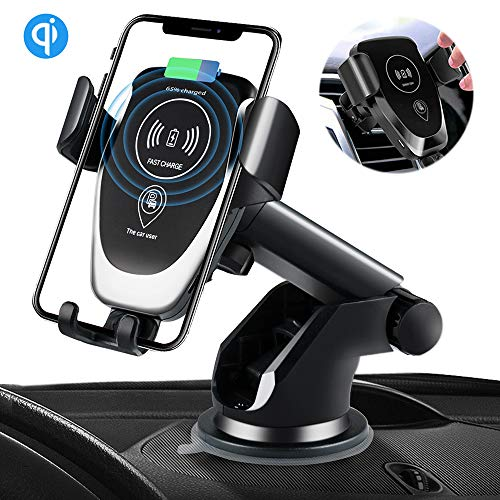 SANCEON Qi Wireless Car Charger Mount,10W Fast Charging Car Phone Holder Air Vent Dashboard Compatible with iPhone Xs/Xs Max/XR/X/ 8/8 Plus, Samsung Galaxy S10 /S10+/S9 /S9+/S8 /S8+ by SANCEON (Image #7)