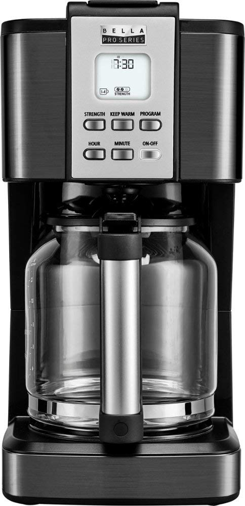 Bella Pro Series 14-Cup Coffee Maker (90061) Stainless Steel/Black - New