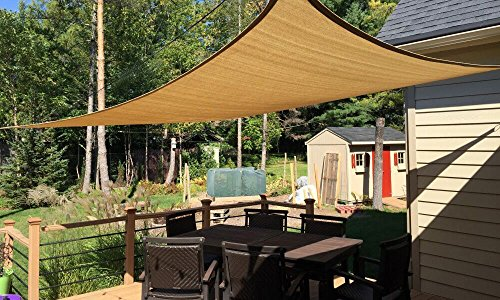 Belle Dura 8X10′ Rectangle Sun Shade Sails UV Block for Shelter Canopy Patio Garden Outdoo ...