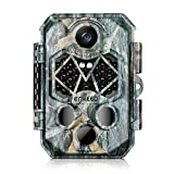 ENKEEO PH770 Trail Camera 20MP 1080P HD Game Cam Wildlife Hunting Cameras with 45pcs 940nm IR LEDs Night Vision, IP66 Water Resistant, 0.2s Trigger Time, 2.4″ LCD Screen