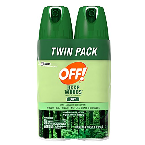 Off! Deep Woods Insect Repellent VIII Dry, 4 Ounce, 2 (Deep Woods Aerosol)