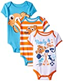Disney Baby-Boys Finding Nemo Bodysuits, White, 18 Months (Pack of 3)