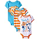 Disney Baby-Boys Finding Nemo Bodysuits, White, 6-9 Months (Pack of 3)