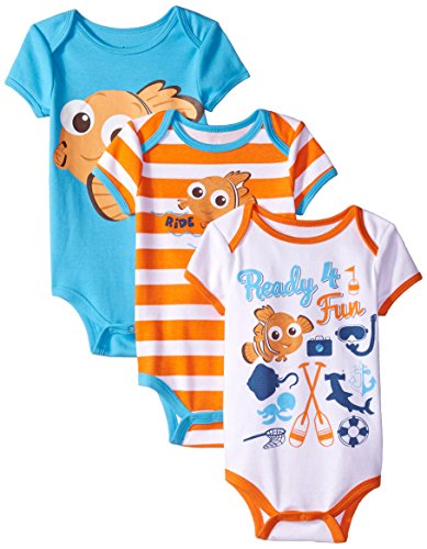 Disney Baby Boys' Finding Nemo Bodysuits (Pack of 3)