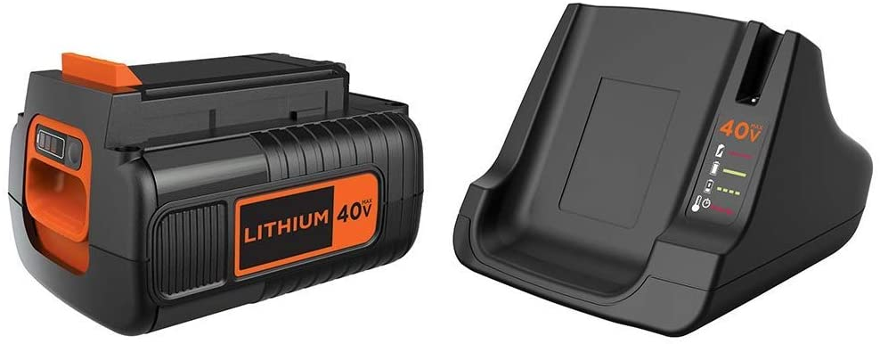 BLACK+DECKER 40V MAX Battery with Fast Charger (LBX2040 & LCS40)