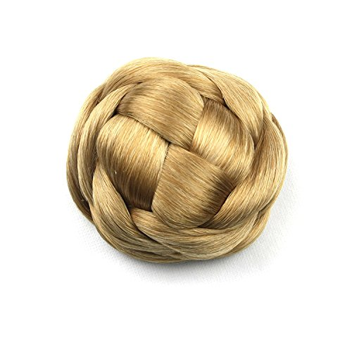 100g, Knitted Hair Chignon, Synthetic Donut Roller Hairpieces, Hair Buns, 1pc (1011)