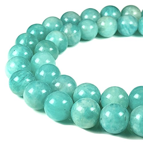 [ABCgems] Rare Peruvian Blue Opal (Translucent- Grade AA) 10mm Smooth Round Beads (Peruvian Opal Round Beads)