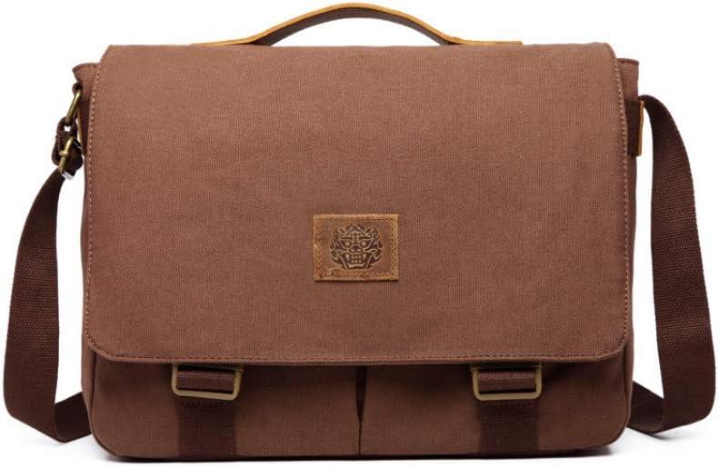 Weshow Sacs Port/és /épaule Homme Toile Messenger Bag /étanche Sac Bandouli/ère R/étro Vintage Cartable pour Ecole Voyage Loisir Travel Bureau Quotidien