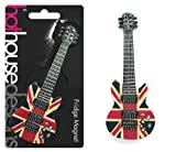 Fridge Magnet - Union Jack Guitar 12.5cm. The ideal gift for music lovers, musicians, the guitarist, men, and the rock chick