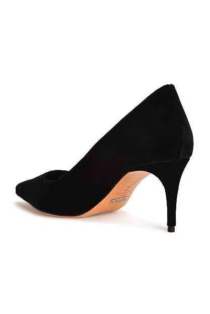 8eb064d53ff Amazon.com  SCHUTZ Lola Black Velvet Pointed Toe Low Heel Single Sole Dress  Formal Pumps  Shoes