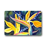 Bird of Paradise Doormat/Gate Outdoors/Indoor Machine Washable Home Floor Mats Rugs