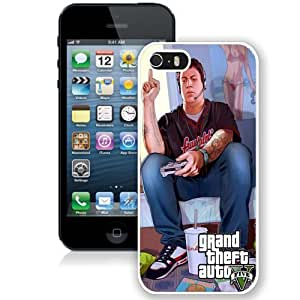 Personalized Phone Case Design with GTA 5 Jimmy Playing Videogames iPhone 5s Wallpaper in White