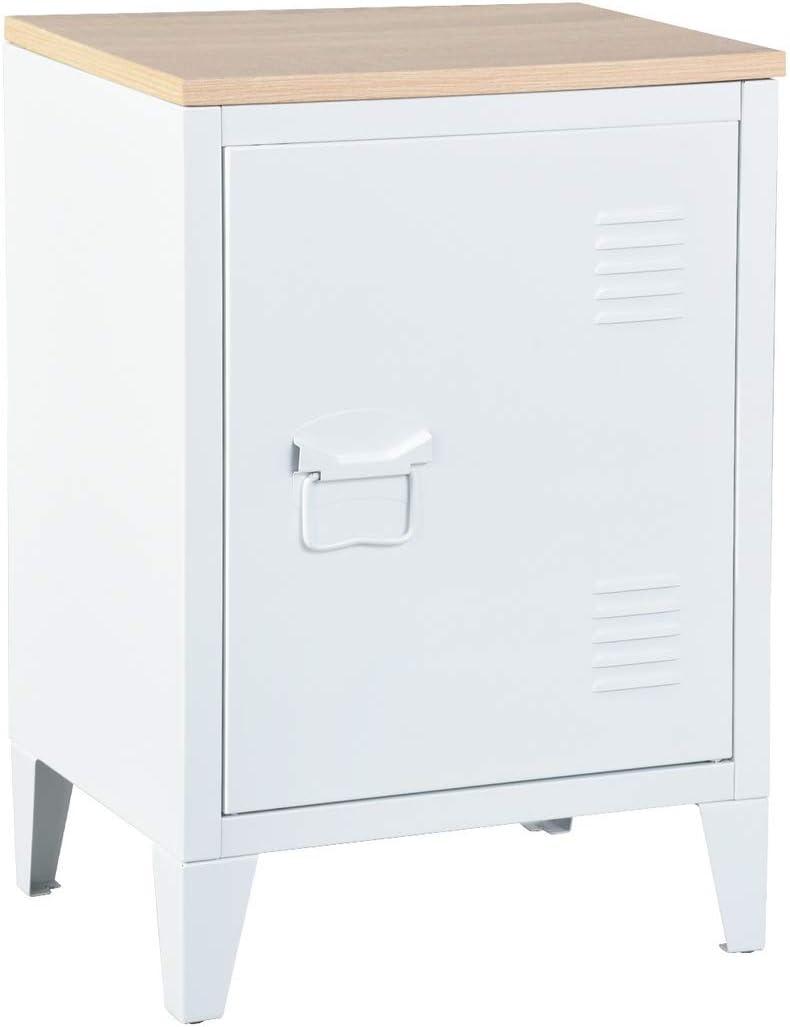 Mueble Coy Cabinet, Metal, Blanco, MDF, 40 x 30 x 57 cm