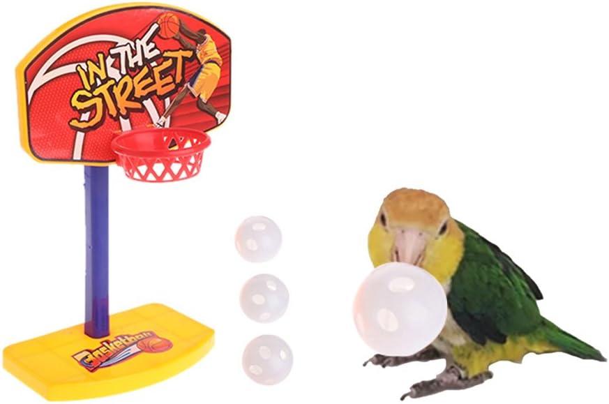 Jiamins Mascotas Pájaro Juguete kauen para Cotorra Papagayo Canasta Prop Trick Prop + 3Unidades Pelotas