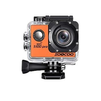 JIEJIEDA Movimiento de la cámara de Pantalla táctil Resistente al Agua HD 4K Movimiento cámara Mando